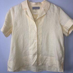 Everlane 100% Linen Button Down Shirt Size 0